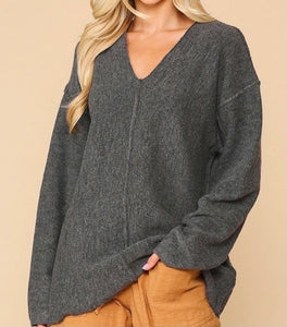 Solid Soft Sweater Top