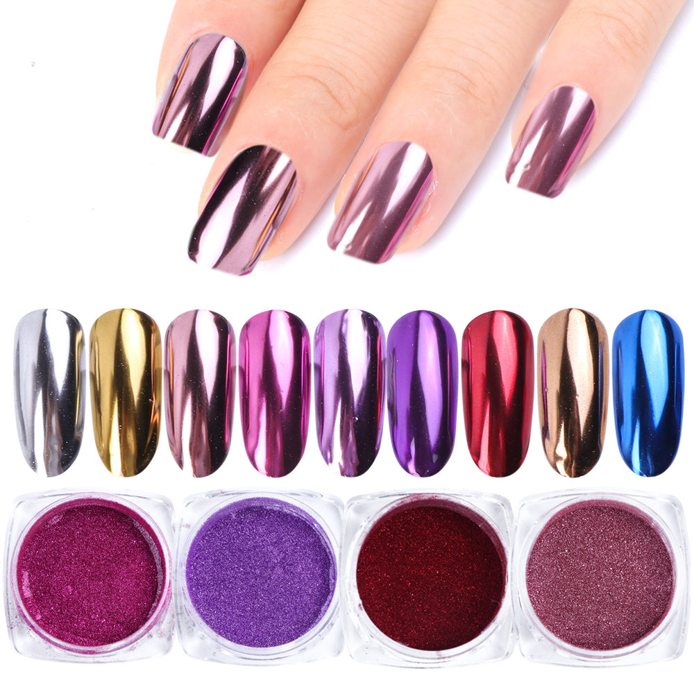 0.5g Nail Mirror Glitter Powder Metallic Color Nail Art UV Gel