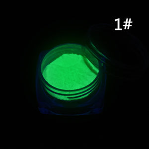 1 Box Neon Phosphor Powder Nail Glitter