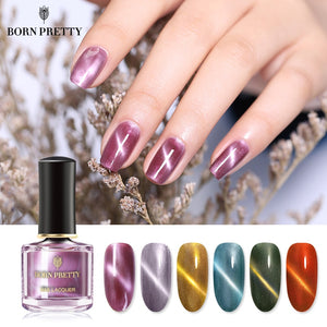 Star Cat Eye Nail Polish 6ml Red Purple