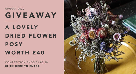 GBF Giveaway August 2020: A Dried Flower Posy worth £40!