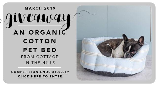 GBF Giveaway March 2019: An Organic Cotton Pet Bed from Cottage in the Hills