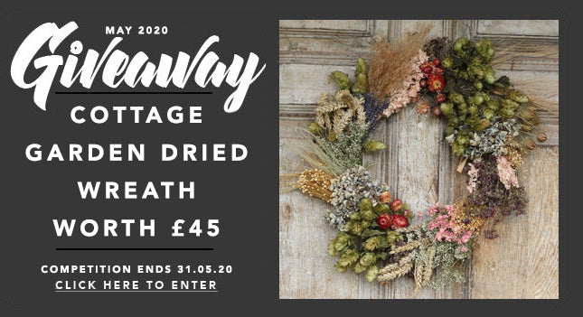 GBF Giveaway May 2020: A Cottage Garden Dried Wreath Worth £45!
