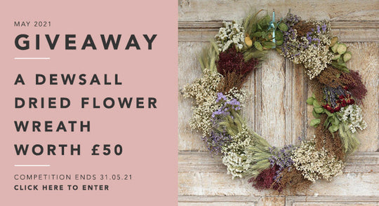 GBF Giveaway May 2021: A Standard Dewsall Dried Flower Wreath - Worth £50!