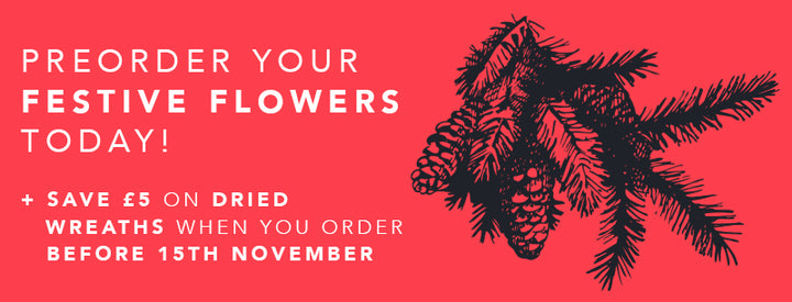 Preorder your Festive Flowers Today!