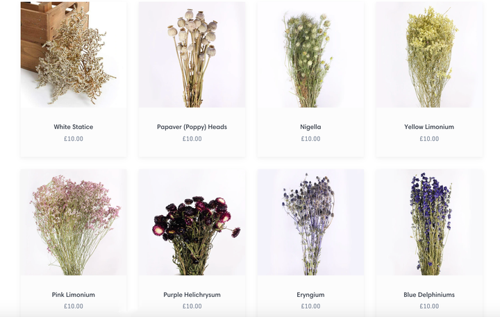 Check out our NEW bunches of dried flowers!