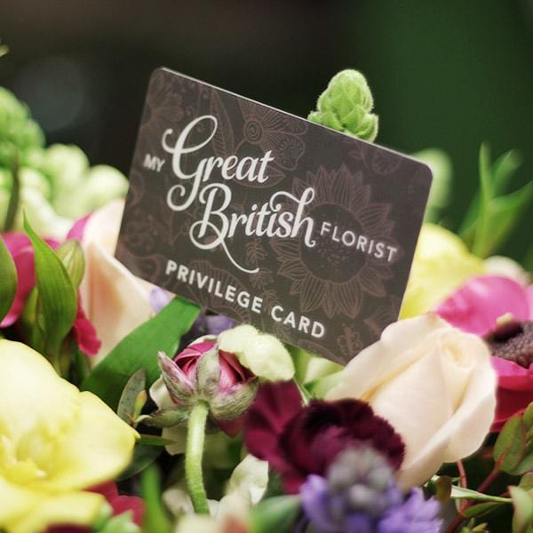 Our Great British Florist Privilege Card!