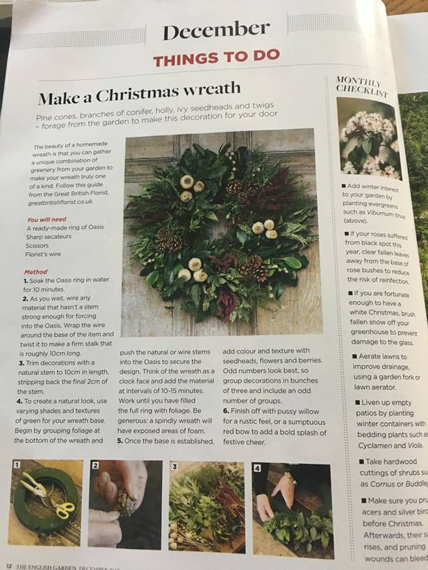 How to Make a Door Wreath in English Garden Magazine!