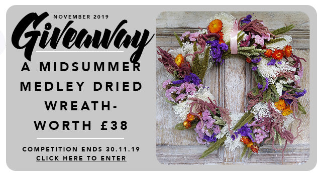 GBF Giveaway November 2019: A Midsummer Medley Dried Wreath Worth £38!