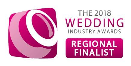 We're Regional finalists at The Wedding Industry Awards!