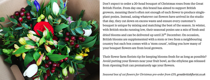 Thanks to The Spectator for featuring our seasonal, #britishblooms in their piece on The best flower deliveries for Christmas :)