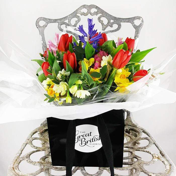 Mother's Day Hand-Tied Seasonal Garden Posy in a Bag