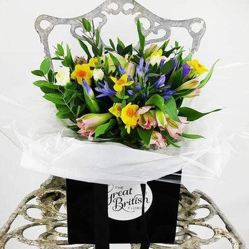 Valentine's Hand-Tied Seasonal Garden Posy in a Bag