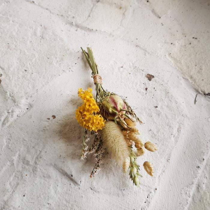 Buttonhole - Bring Me Sunshine - Dried Flowers