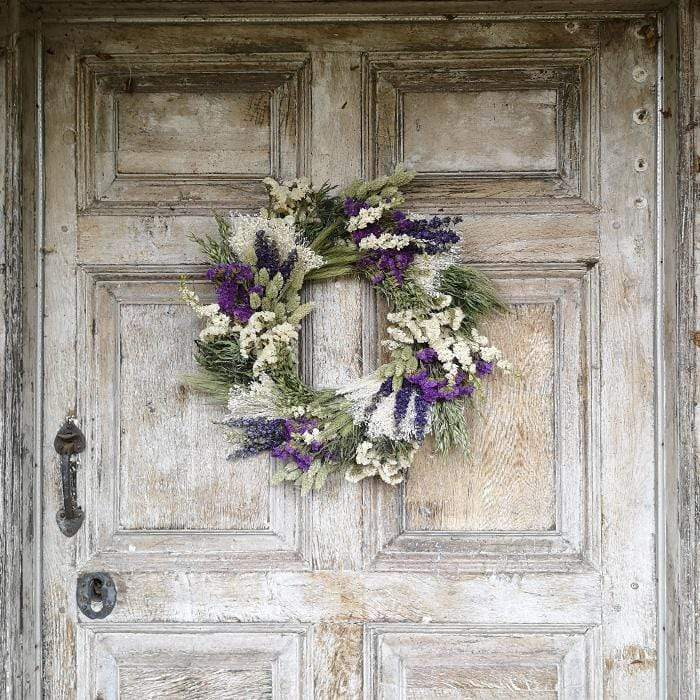 Blue Moon - Dried Flower Wreath