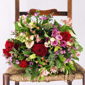 Valentine's Hand-Tied Seasonal Garden Bouquet