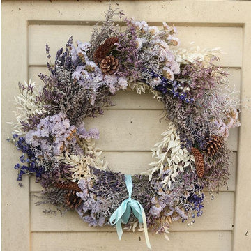 Deep and Crisp and Even - Christmas Dried Flower Wreath
