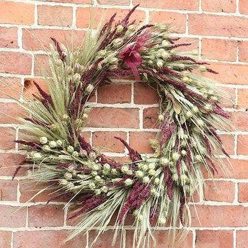 Autumn Skies - Dried Flower Wreath