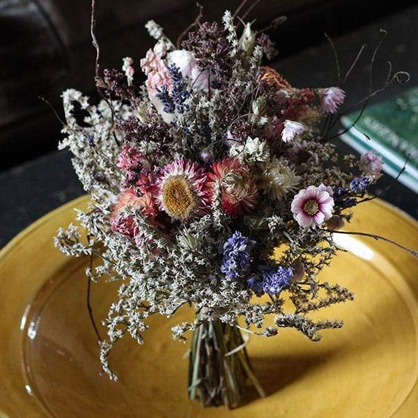 Bridal Posy - Autumn Skies - Dried Flowers