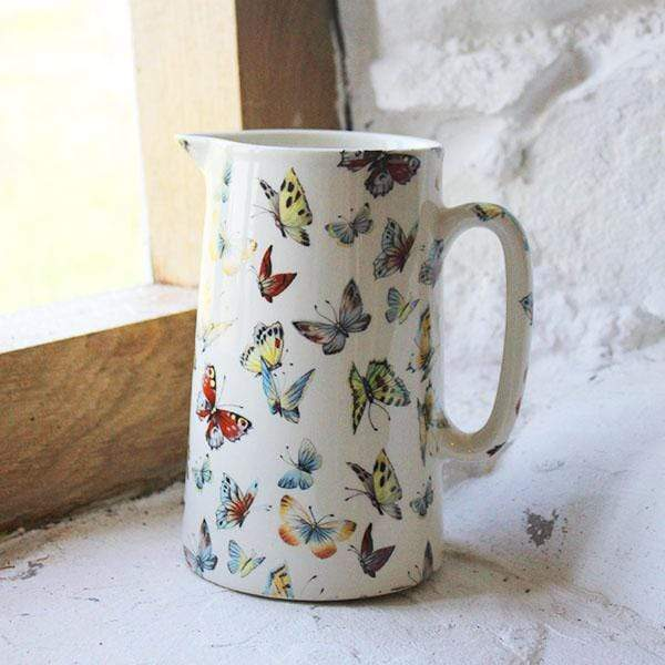 Butterfly Pottery Jug