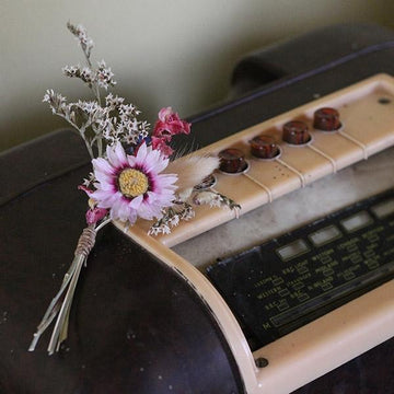 Buttonhole - Autumn Skies - Dried Flowers