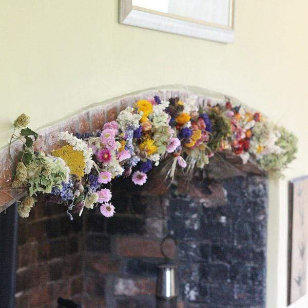 Vintage Country Dried Flower Garland