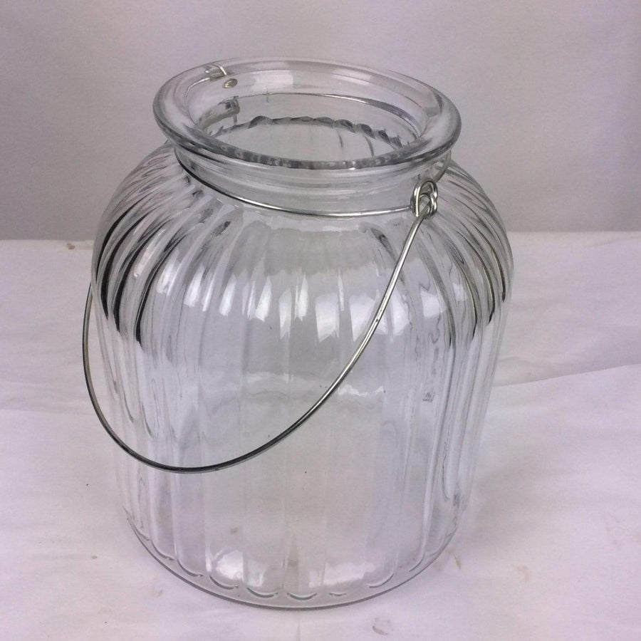 Garden Trading Cornbury Glass Vase Hanging Hurricane Jar - Large