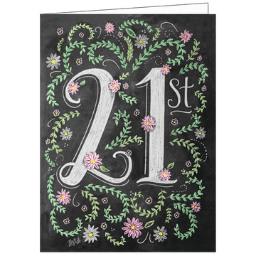 Lily and Val 21st Birthday Gift Card