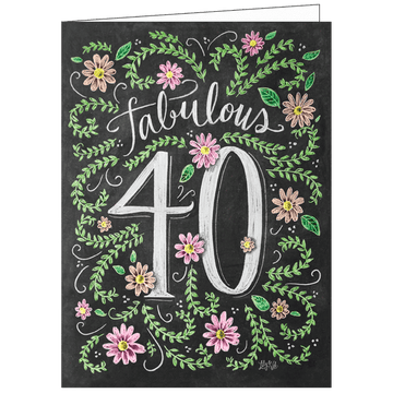 Lily and Val 40th Birthday Gift Card