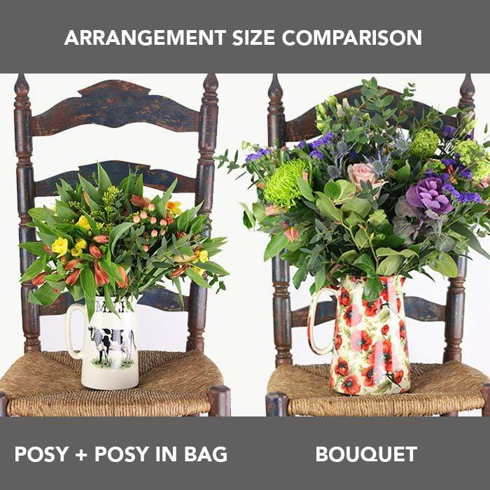 Hand-Tied Seasonal Garden Posy in a Bag