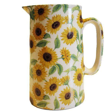 Sunflower Pottery Jug