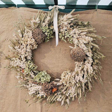 Vintage Pastel - Dried Flower Wreath