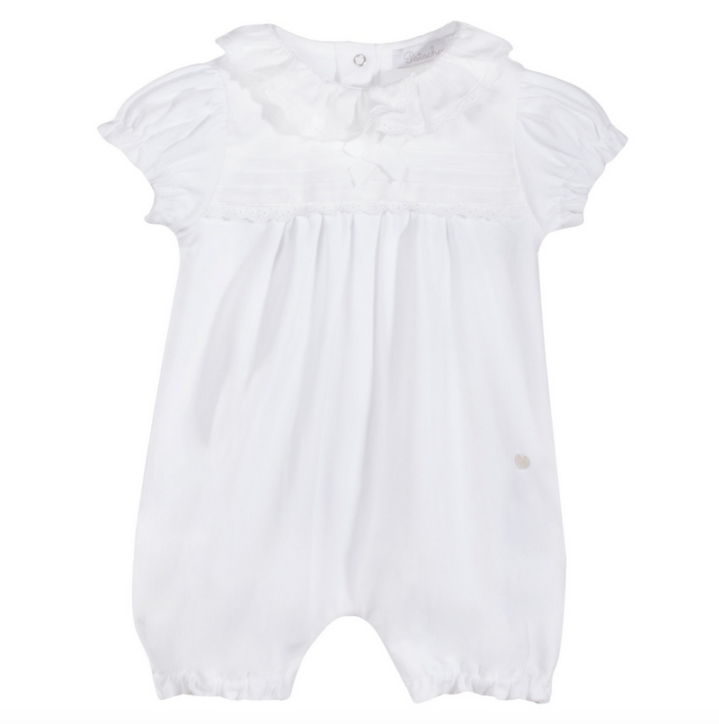 Patachou Baby Girls White Romper