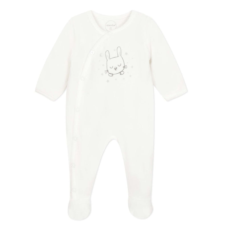 Absorba Velour Cream Baby Grow