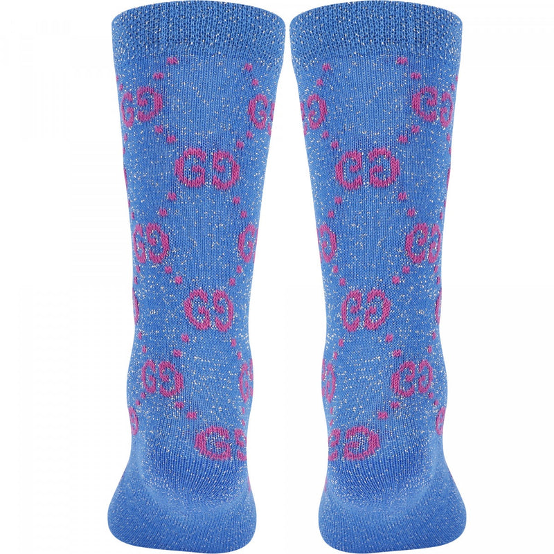 Gucci Sparkle Blue Socks