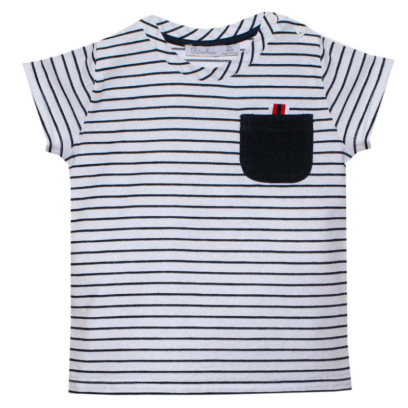 Patachou Striped Cotton T-shirt