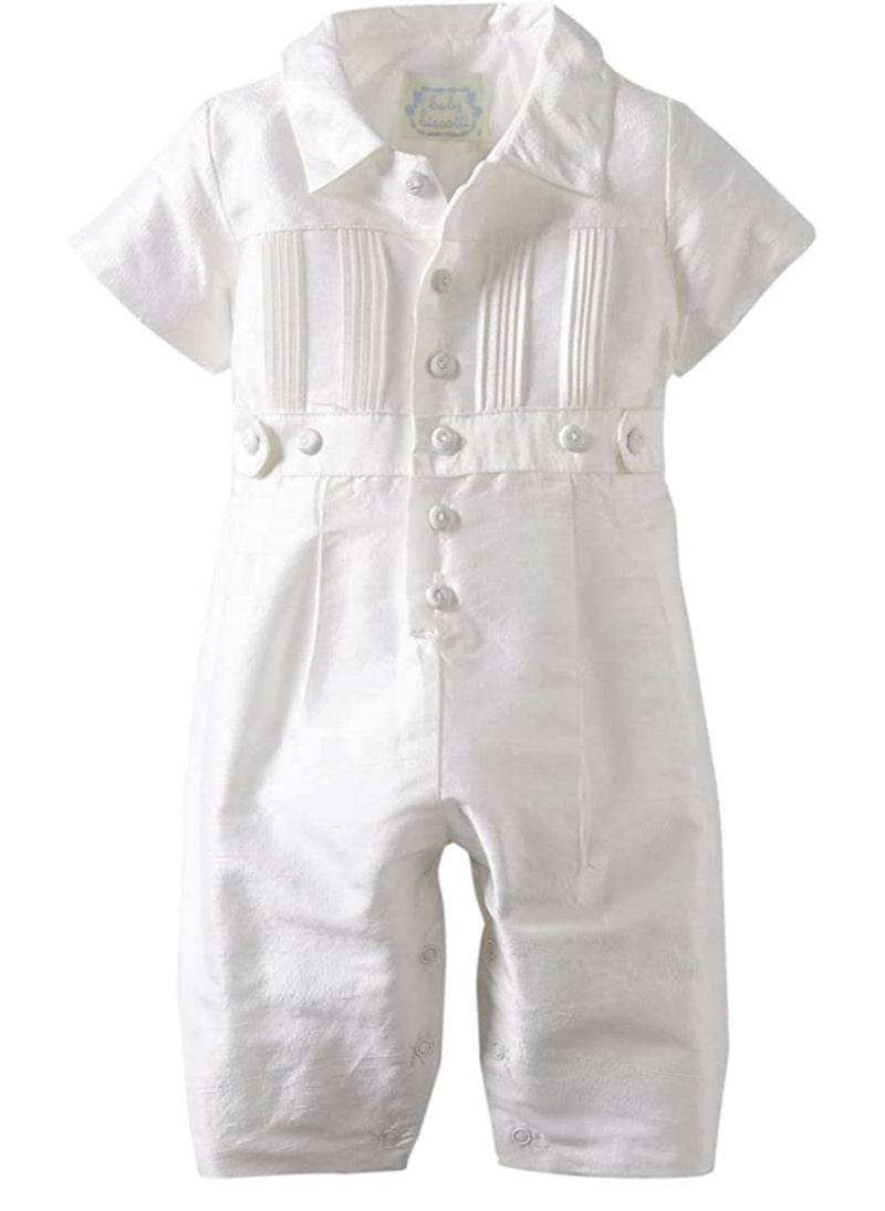 Baby Biscotti Silk Heirloom Romper