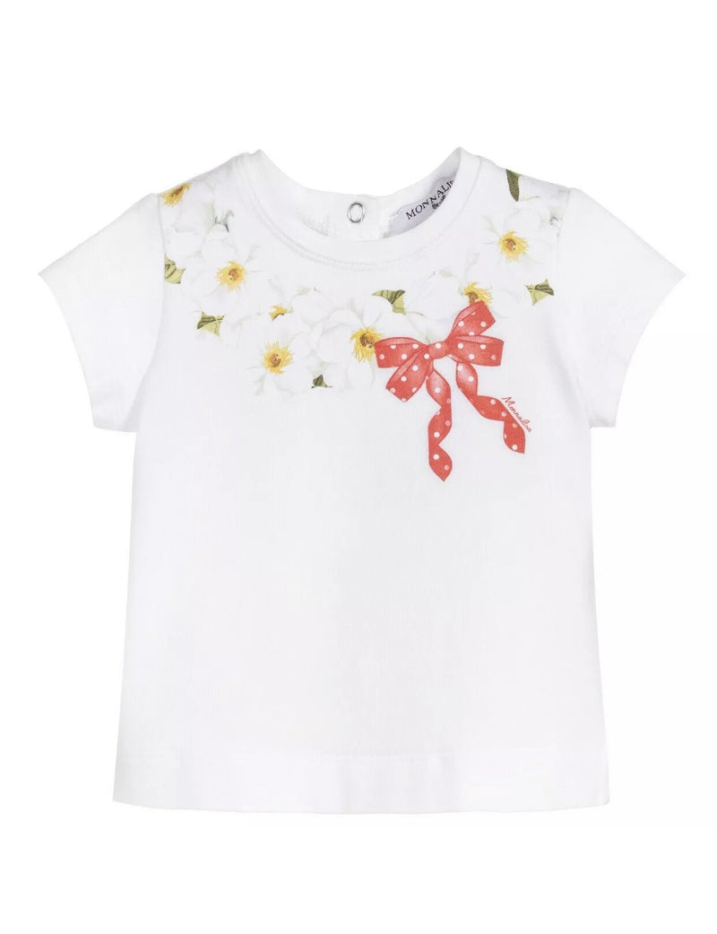 Monnalisa baby top with red bow