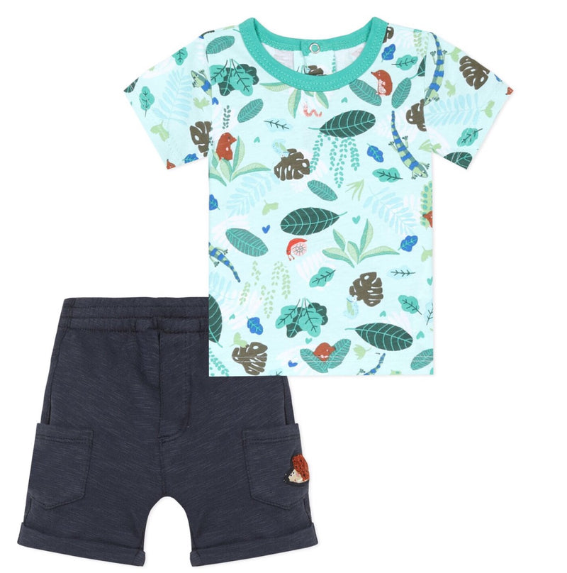 Catimini Jungle T-shirt and Short Set