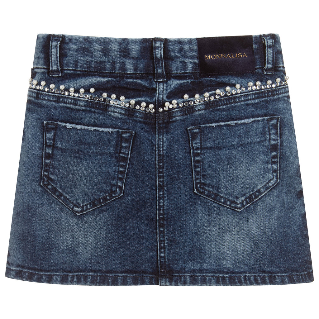 Monnalisa Chic Denim Skirt