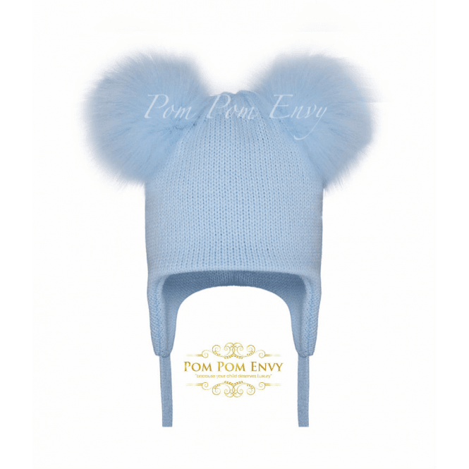 Pom Pom Envy Pale Blue Hat