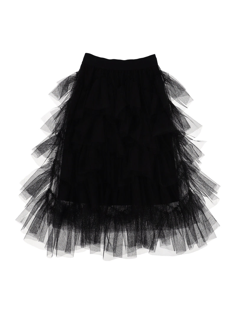MONNALISA Black Tulle Skirt