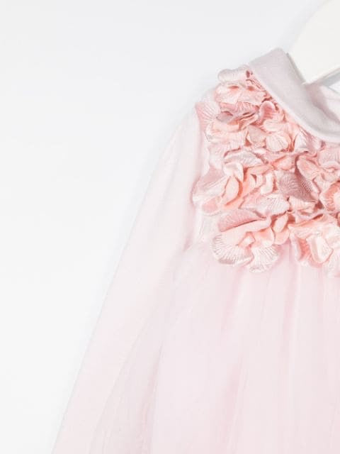 MONNALISA Floral Tulle Dress