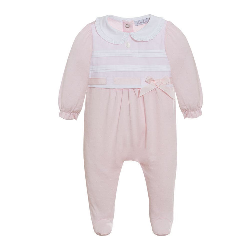Patachou baby pink cotton babygrow