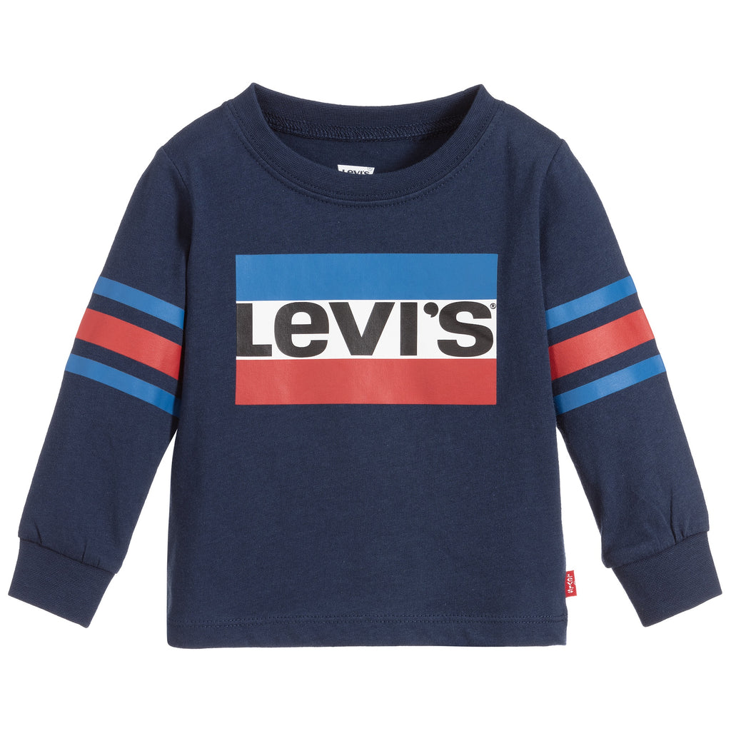 Levi's Boys Blue Cotton Logo Top