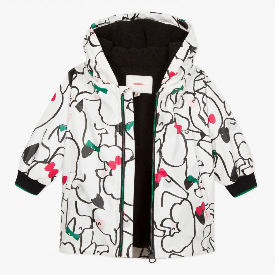 Catimini cats & dogs printed rubber cloak jacket