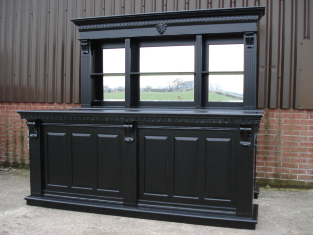 Black Pub Counter and Back Bar 2.6m