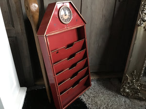 Red Clock File Rack