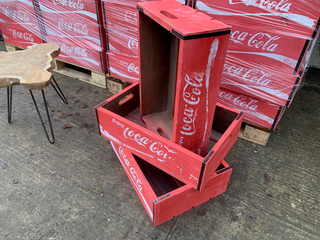 Large Wooden Coca Cola Box