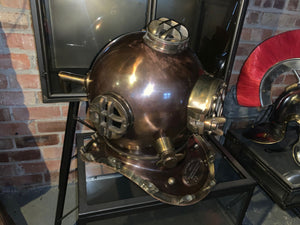 Brass and Copper Divers Helmet